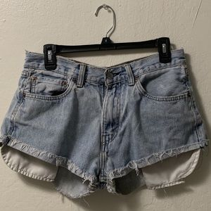Levi's 505 High Waisted Shorts